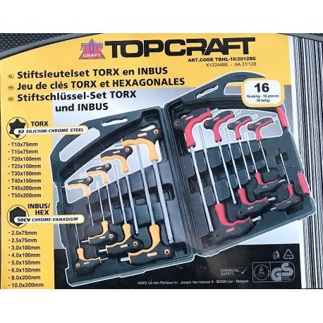 Sada torxů a imbusů Top Craft 16 ks