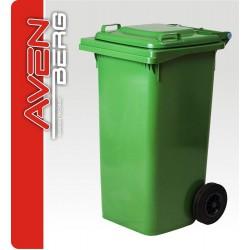 Plastová popelnice na kolečkách 120 L - zelená