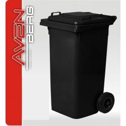 Plastová popelnice na kolečkách 240 L - šedočerná granitová