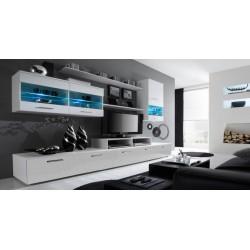 Alfa obývací stěna (bílá/bílá)