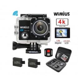 Akční kamera Wimius Q3 4K + dálkové ovládání + 2x baterie + příslušenství
