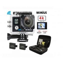 Akční kamera Wimius Q4 4K + 2x baterie + příslušenství
