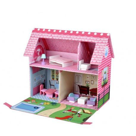Skládací domeček pro panenky GLORIA