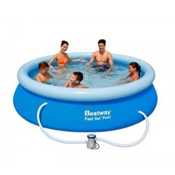 BESTWAY 57124 Samostavěcí bazén 457x91 cm s filtrací