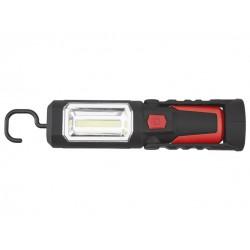 POWERFIX Aku LED svítilna (červená/černá)