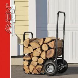 Vozík na dřevo + uskladnění dřeva Brennholz