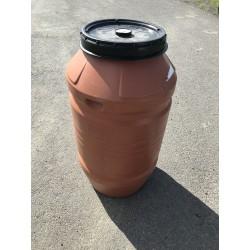 Plastový sud 220 L s víkem - 1x použitý, potravinářský