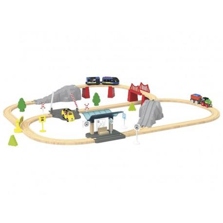 PLAYTIVE JUNIOR Dřevěná železnice
