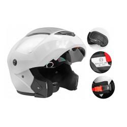 Unisex odklápěcí helma Zipp bílá lesk