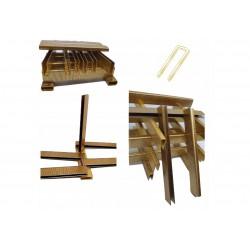 Sponky do sponkovačky  šířka 6mm, délka 15 mm